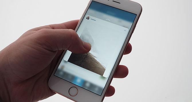 Một số ứng dụng bên thứ ba như Instagram đã hỗ trợ 3D Touch